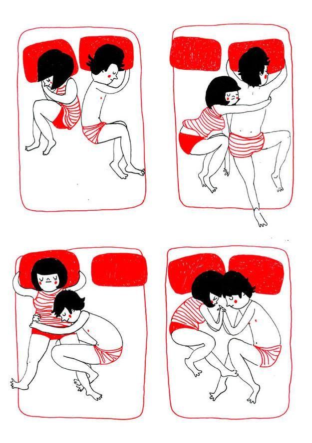 Quand dormir ensemble implique toute une chorégraphie