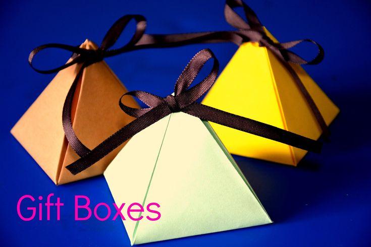 DIY - Cute Gift Boxes #diy #gift #boxes #tutorial