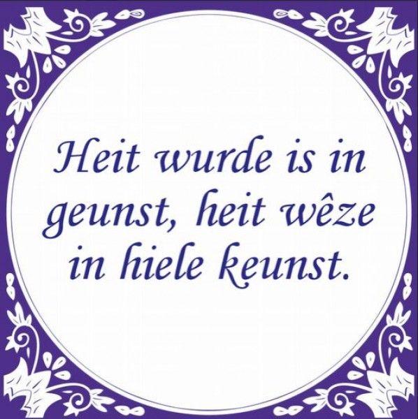 Friese tegel Heit wurde is een geunst - friese-producten.nl