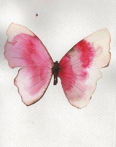 mariposa rosada acuarela - Buscar con Google