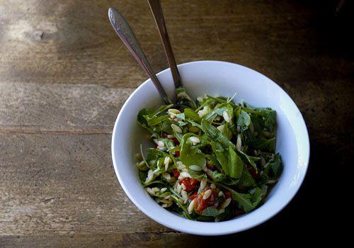 Orzo Salad w/ Baby Rocket & Roasted Cherry Tomatoes - Vegan