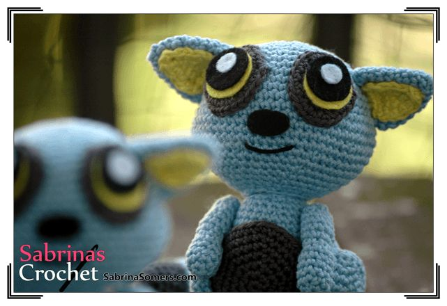 100% Free Pattern, Blue Lemur, Not available to download but there are written instructions to follow.