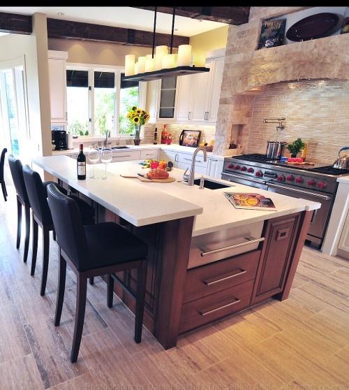 love this kitchen!Ideas, Kitchens Design, Dreams Kitchens, Rustic Kitchens, Kitchens Islands, Mediterranean Kitchens, Mediterranean Home, Kitchens Photos, Kitchen Designs