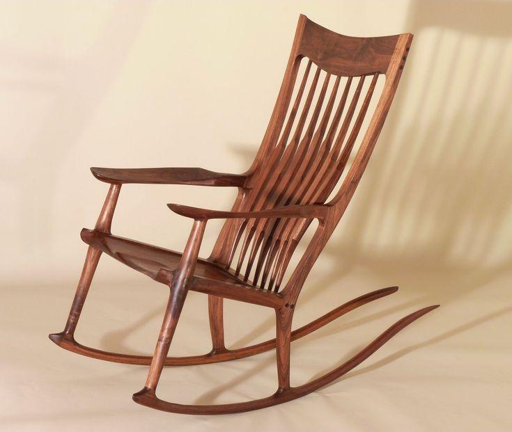 For Sale Sam Maloof Style Walnut Rocking Chair ArtsyHome 2015 - 2016