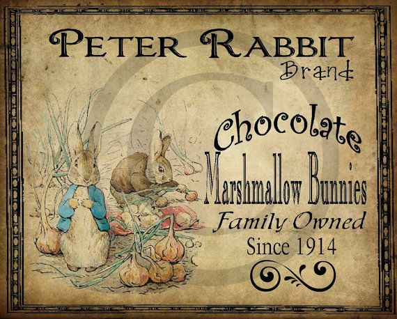 Primitive Vintage Peter Rabbit Printable