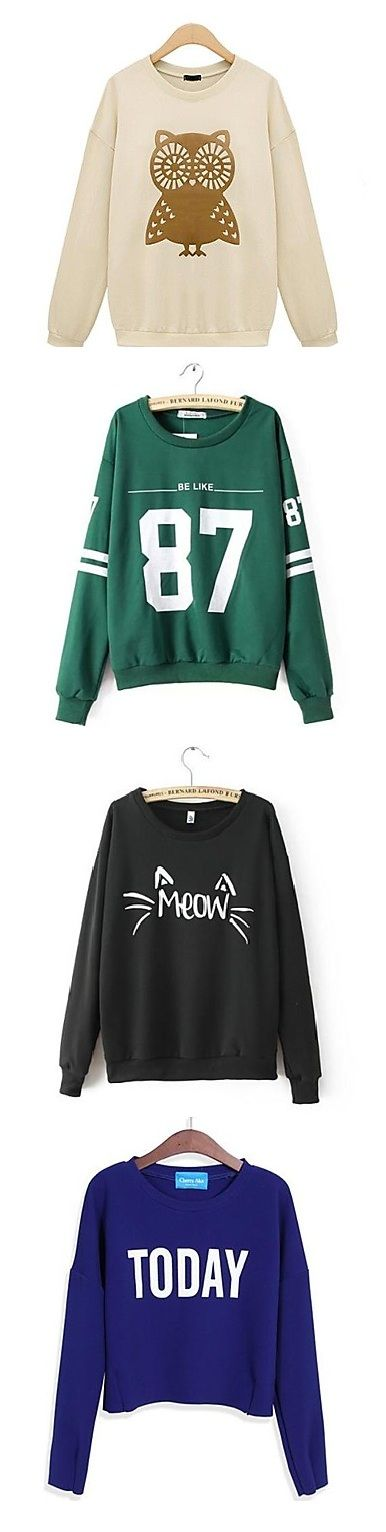 Cool and stylish sweatshirts. Get your favorite one!