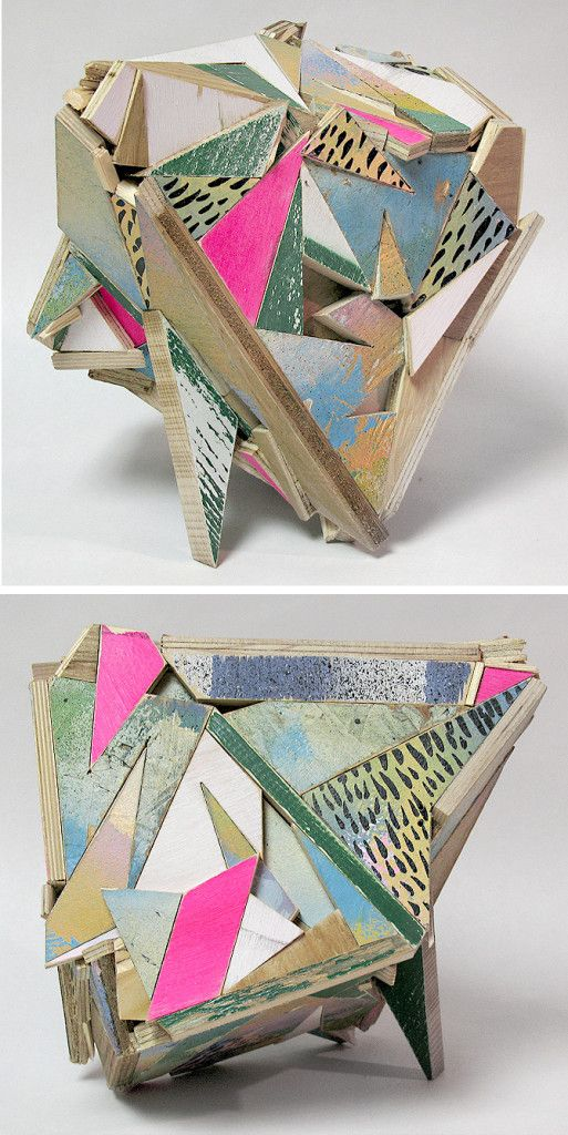 Aaron S. Moran If you resist this! Reclaimed Wood sculptures