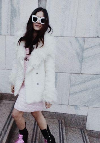 Eleonora Carisi wearing G2G eco fur #g2gdream www.g2gdream.com