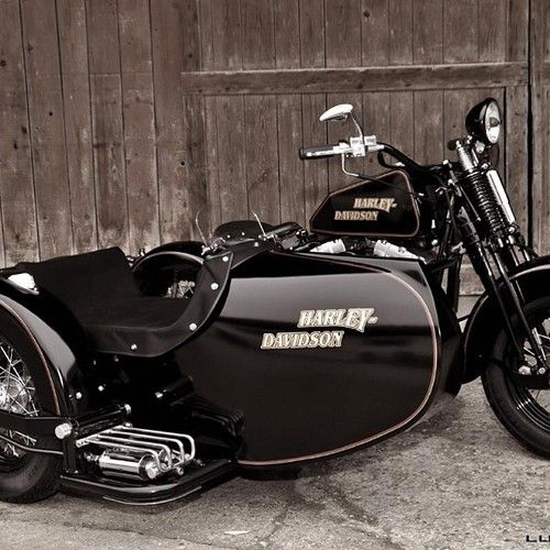 Harley Davidson at it's finest, LG JJ ~ Sidecar Motorcycle