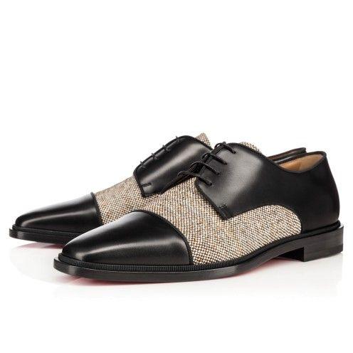 Men Shoes - Bruno Orlato Flat Calf/ Tweed - Christian Louboutin ...