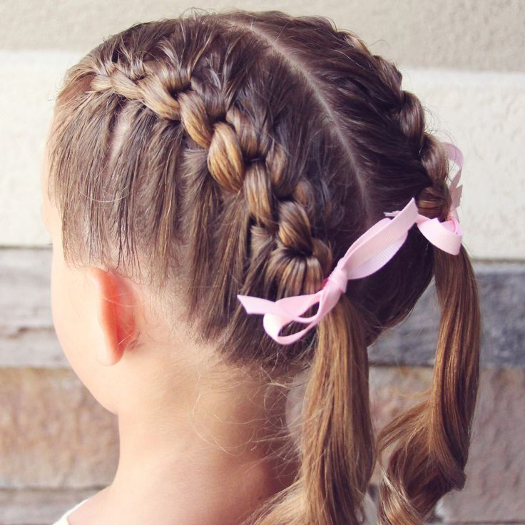 Holster Brands hair pic of the day: Knotted French Braid Pigtails