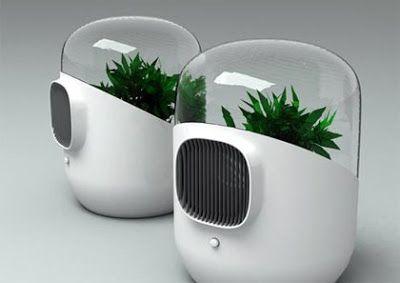 Bel Air est un assainisseur d'air équipé d'un filtre vivant, composées de plantes repérées dans les années 80 par la NASA pour leur propriétés filtrantes. L'air vicié, chargé des gaz toxiques dégagés par les objets de l'espace domestique (solvants, formaldéhyde,trichloréthylène...), est aspirés sous la cloche de pyrex et contraint à passer par les feuilles et à ressortir assaini par les racines.