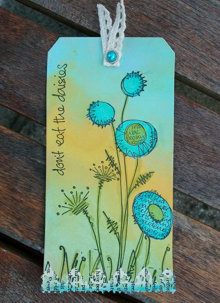JOFY tag. LOve stamps! from Paper Artsy in UK, great colors
