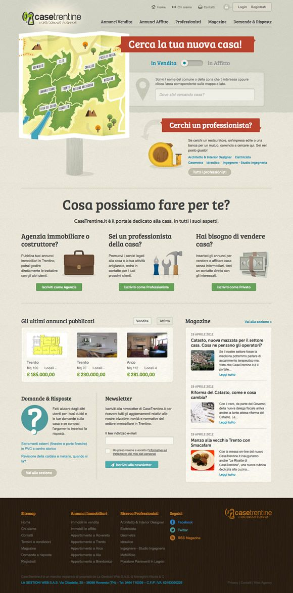 Casetrentine.it | Factoria Web Agency presenta Case Trentine website