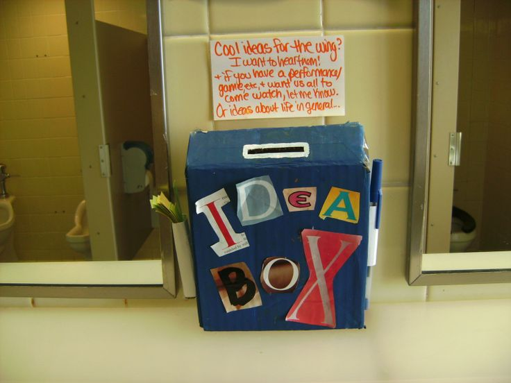 Idea Box I put in the community bathroom as an RA... but I still use it for myself.