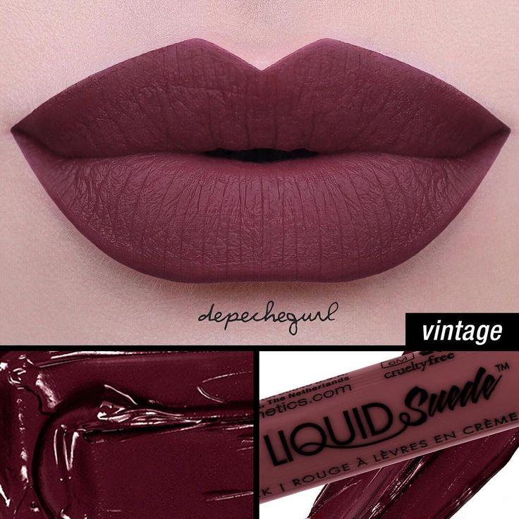 NYX Liquid Suede Cream Lipstick in 'Vintage'.