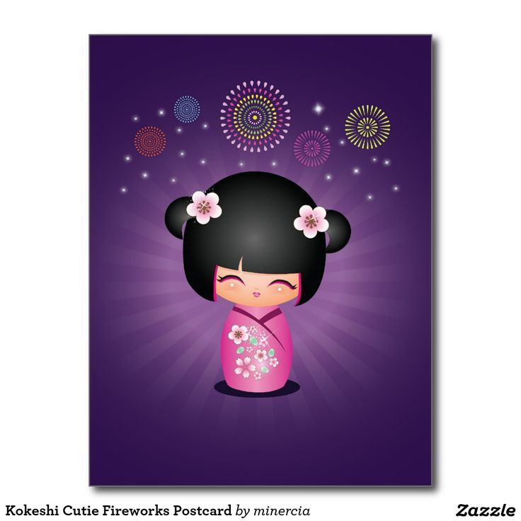 """Kokeshi Cutie Fireworks"" by minercia."