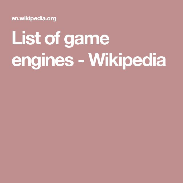 List of game engines - Wikipedia