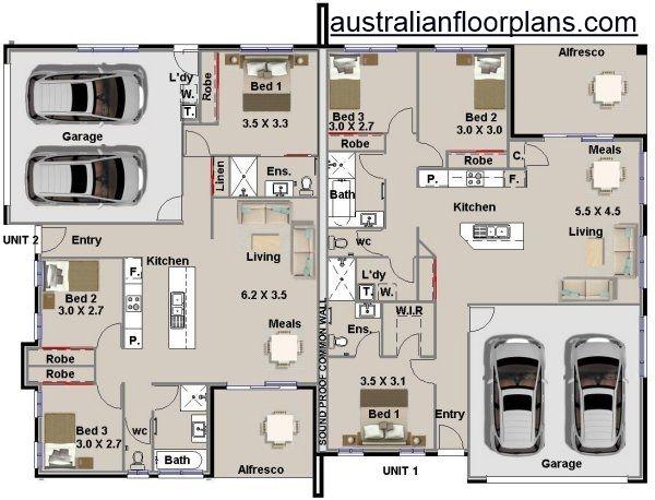 Astonishing Corner 5 Bed Duplex Design House Plan 231Du Dual Living In Beutiful Home Inspiration Xortanetmahrainfo
