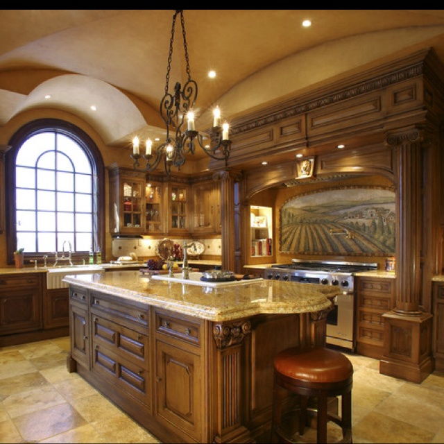1000 ideas about tuscan kitchen design on pinterest for Italian kitchen cabinets