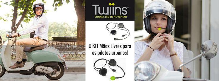 TWIINS - O KIT Mãos Livres para os pilotos urbanos! Existe um Twiins que corresponde a cada uma das tuas necessidades: - D1VA | Falar - D2 | Ouvir música - FF2 | Para capacetes integrais - D3 | Falar com o passageiro  Confirme hoje mesmo com a Lusomotos.  #lusomotos #twiins #kitmãoslivres #mãoslivres #chamadas #falaraotelemóvel #telemóvel #passageiro #falar #ouvirmúsica #música