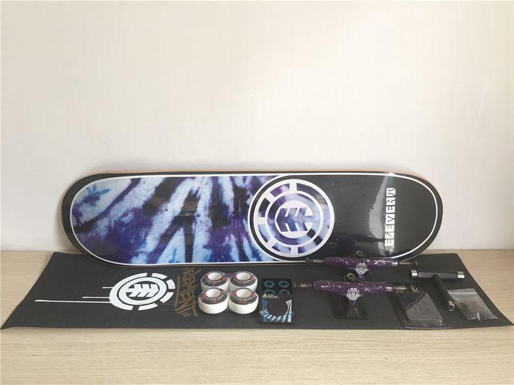Completa Skateboard Element Set Pro Cubierta de Camiones Ruedas y Rodamientos de Skate Plus Riser Pad Conjunto de Hardware y la Instalación de La Herramienta