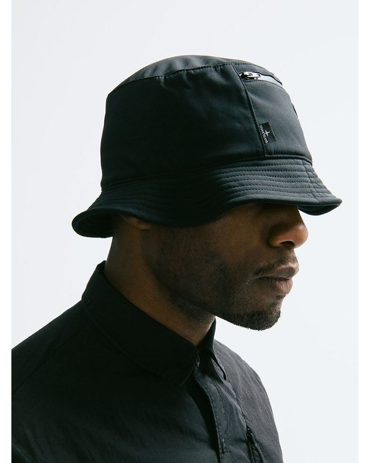 Stone Island | Black Bucket Hat for Men | Lyst