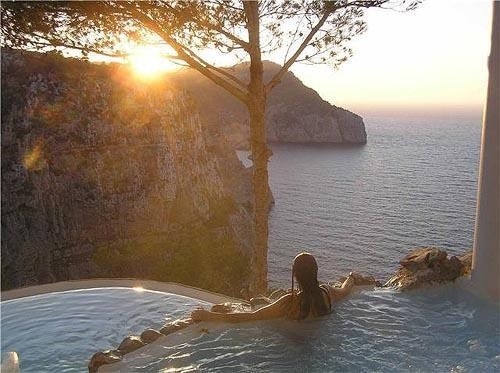 Spa Sunset, Island of Ibiza, Spain  i love all the music from Ibiza ...great energy....