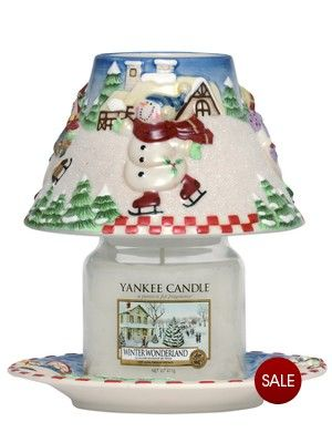 Yankee CandleSkating Snowman Medium Jar  shade #YankeeCandle #MyRelaxingRituals