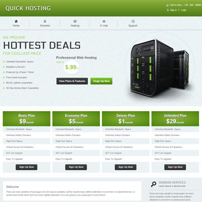 Quick Hosting Free #Responsive #HTML5 #CSS3 #Mobileweb Template ...