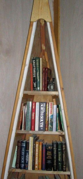 Canoe Bookcase Idea
