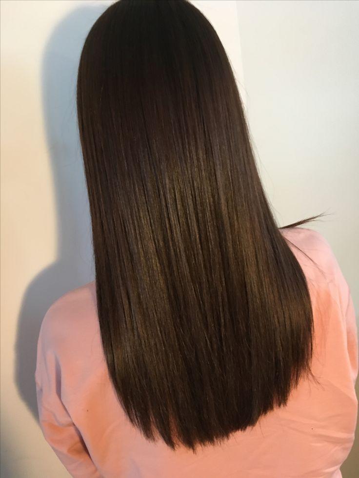 Long brown hair straight haircut