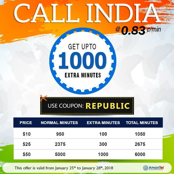 Best 25 india calling code ideas on pinterest india phone code calling india 083 min on this indian republic day continue the benefits of amantel money saving offer in 2018 get up to 1000 extra minutes while fandeluxe Gallery