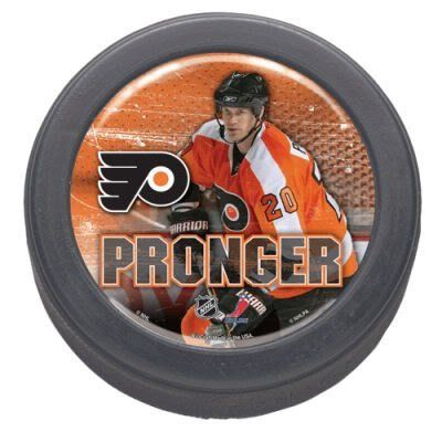Philadelphia Flyers Chris Pronger Collectors Hockey Puck by WinCraft. $7.94. Philadelphia Flyers Chris Pronger Collectors Hockey Puck. Perfect for the sports fan in your life.. Save 60%!
