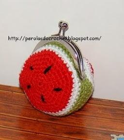 Crochet~ Watermelon Pouch