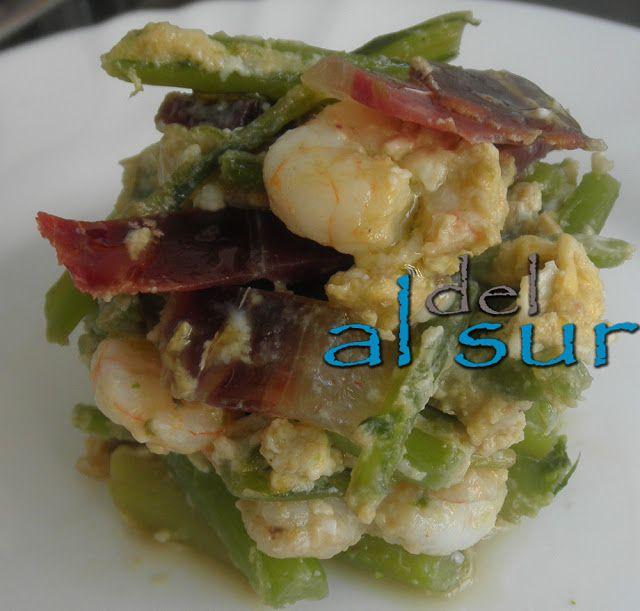 La cocina malagueña-Alsurdelsur: Revuelto de tagarnina