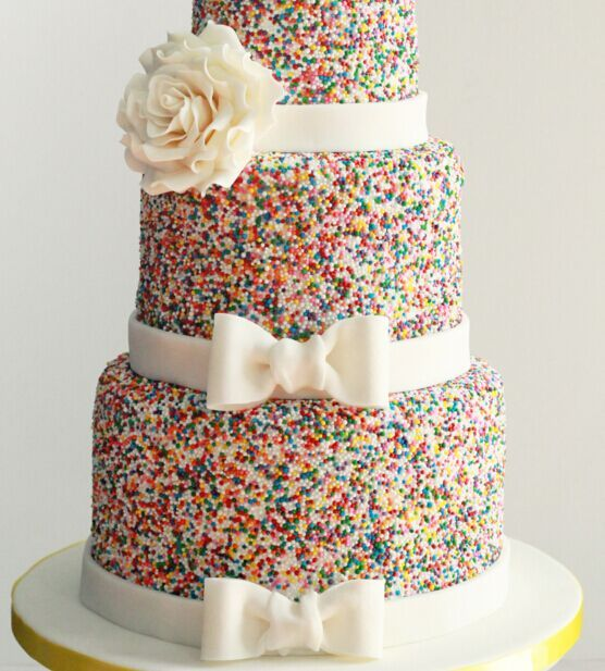 Funfetti Wedding Cake - 20 Best Wedding Cake Flavors and Ideas for Different Seasons! - EverAfterGuide