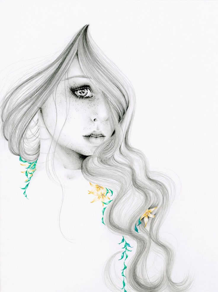 """Fashion Illustration Pencil Drawing Giclee Print of my Original Pencil Drawing Fashion Illustration """"The Beauty Within"""" ohtteam Grey Mint by ABitofWhimsyArt on Etsy https://www.etsy.com/listing/107932158/fashion-illustration-pencil-drawing"""