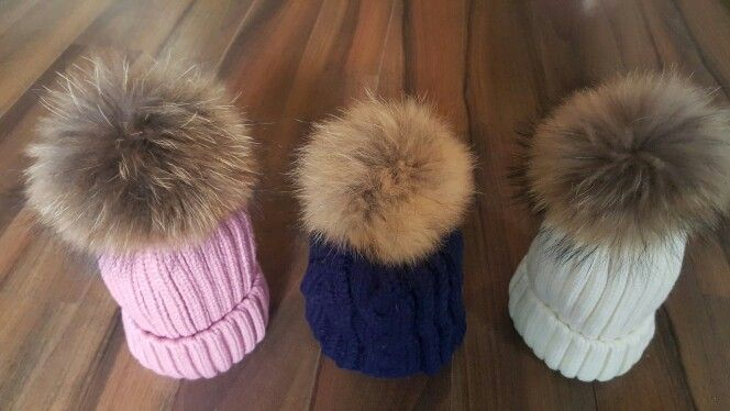 LUXURY Pompom beanies Available from Suzanne Ryan Millinery DUBLIN  €30