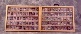 Full Tabletop baseball card display case / Golden Oak 100105