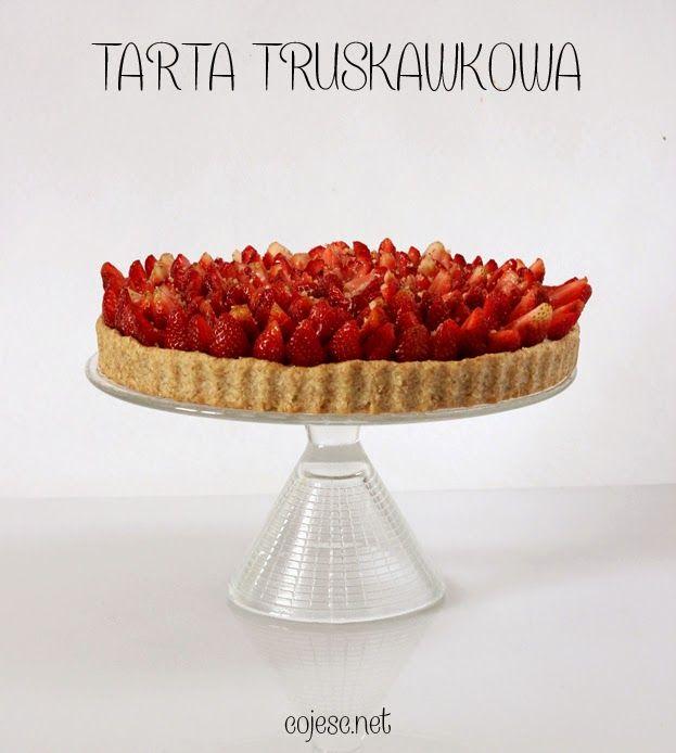 Cudowna tarta z truskawkami :) | Zdrowe przepisy Pauliny Styś