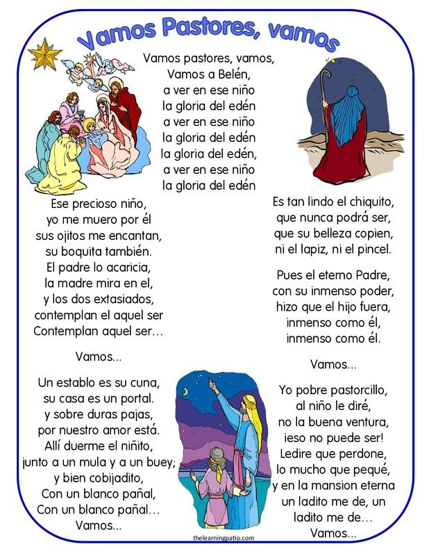 FREE PDF   Spanish Christmas Carols & Comprehension Questions http://www.thelearningpatio.com/free-items.html The Learning Patio is  subscription website for printable dual language materials. International Subscriptions are welcomed and processed through Pay Pal http://www.thelearningpatio.com/