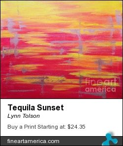 """Tequila Sunset"" by Lynn Tolson. Add bold color to your decor! To buy click image. #abstract #abstractart #abstractartist #abstractexpressionism #abstractexpressionist #abstractogram #artistsoninstagram #abstractpainting #art #artlife #artlove #artpop #arts #artistsharing #artwork #canvasart #canvaspainting #canvasprint"