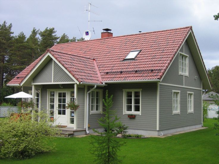 Red Roof Wood Houses And Grey Wood On Pinterest
