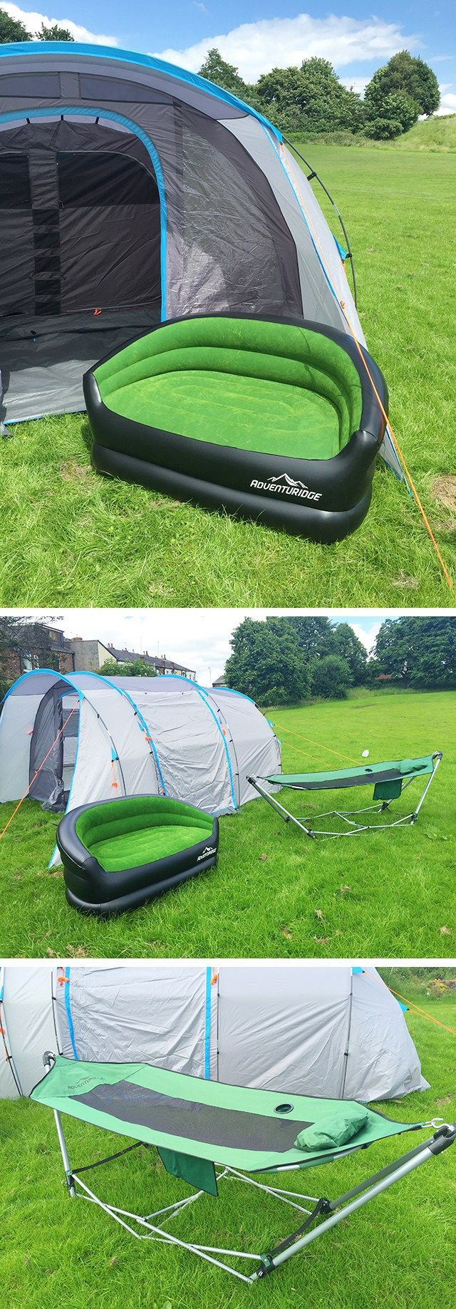 ALDI 5 man tent review plus the inflatable sofa & hammock from the fab new camping range from the ALDI Special Buys