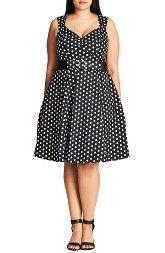 New City Chic Pin-Up Belted Spot Print Dress (Plus Size) online, New offer for City Chic Pin-Up Belted Spot Print Dress (Plus Size) @>>hoodress dress shop<<