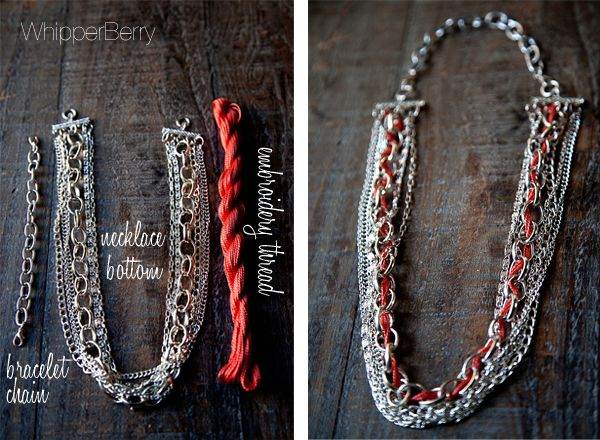 Embroidery Thread adds color to this custom jewelry line