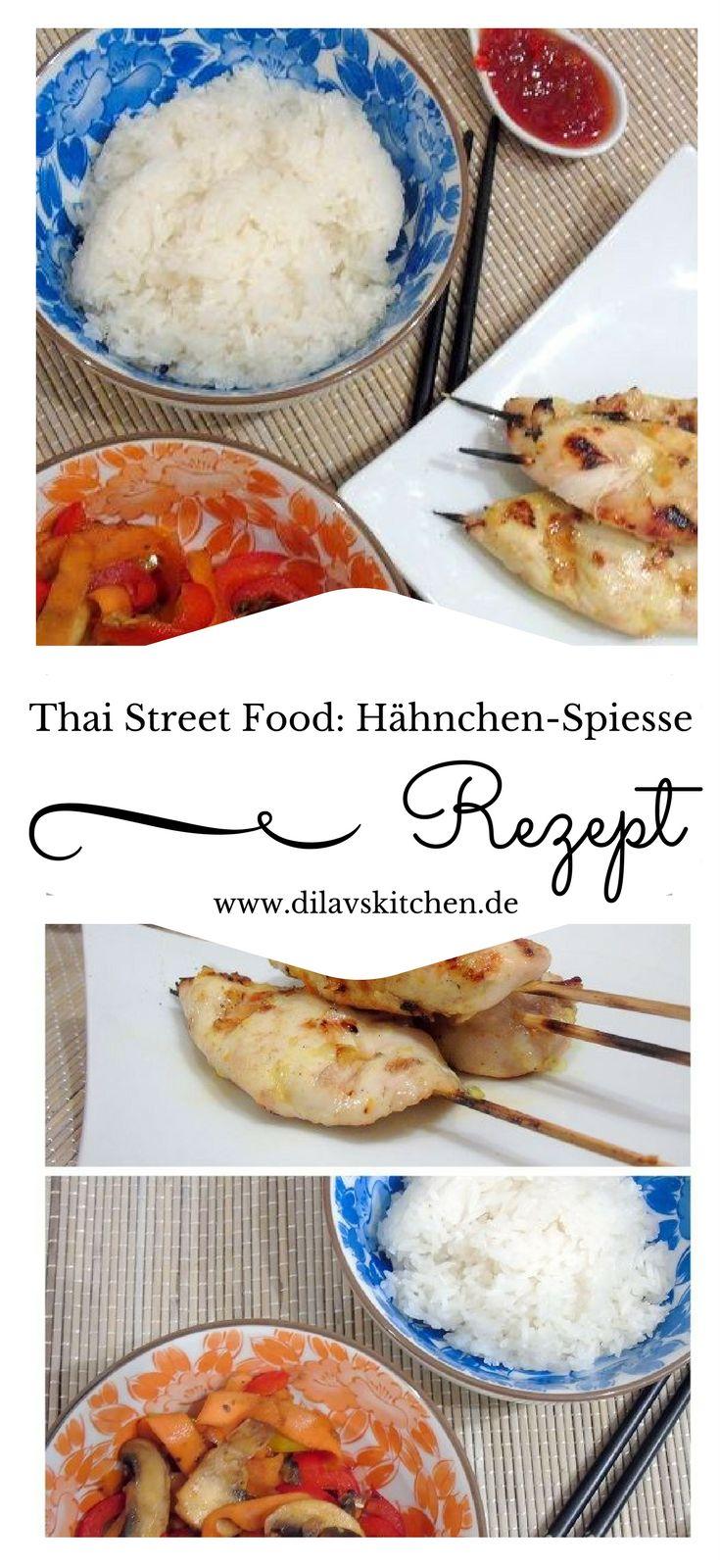 Spiesse aus zartem Hähnchenfleisch sind einer der klassiker der asiatischen Küche. Besonders beliebt sind sie in Thailand als Streetfood. Serviert mit feuriger Sweet Chili Sauce oder mit cremiger Erdnusssauße sind diese Spieße ein absoluter Traum. Hol dir jetzt das Rezept für die Thai Streetfood Hähnchenspiesse auf www.dilavskitchen.de