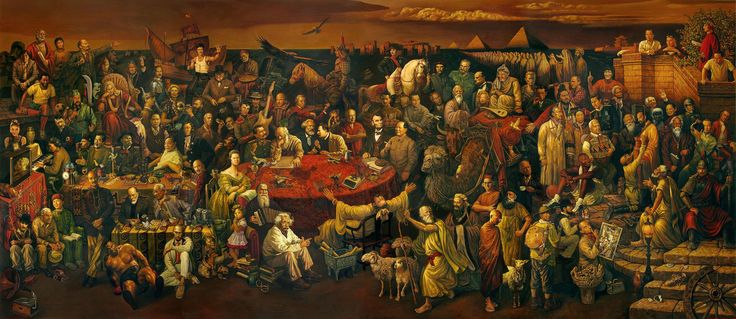 Pintura Personalidades da História