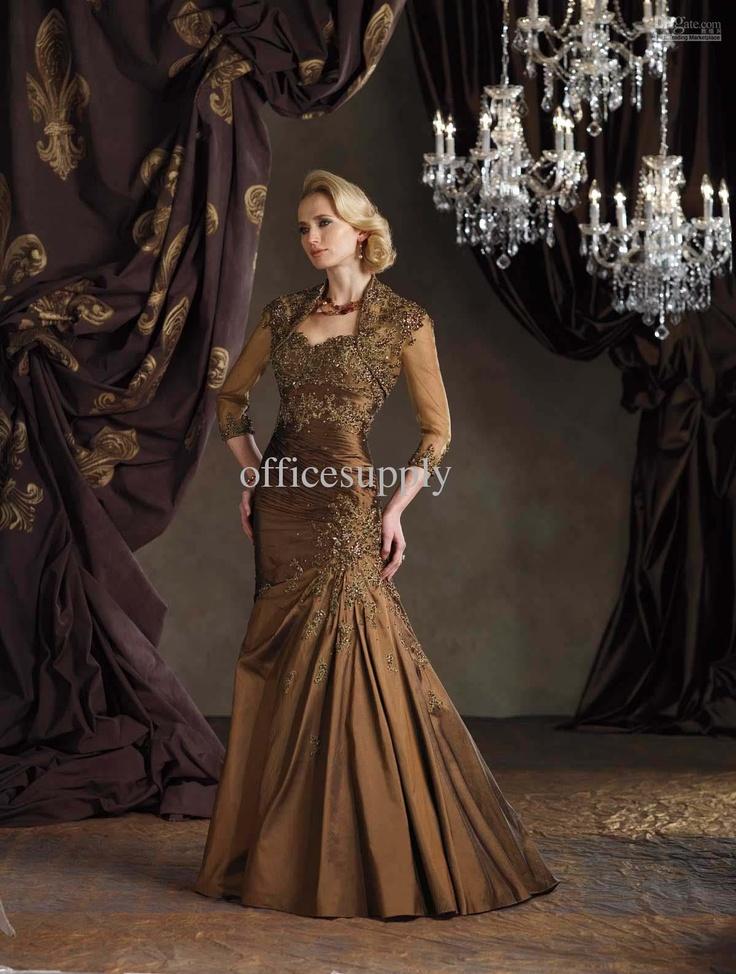 Bolero Jacket Taffeta Mother of the Bride Dresses